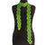 Green Crocheted Rayon Skinny Scarf