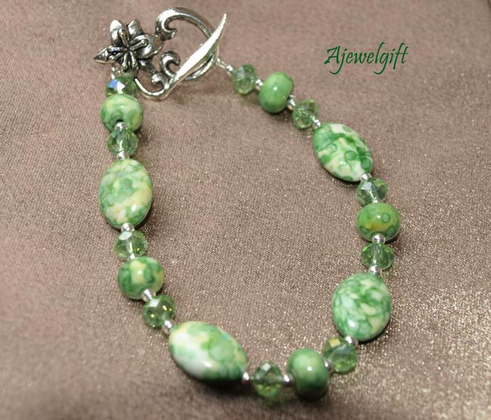 Marbled Green Bracelet 12-41