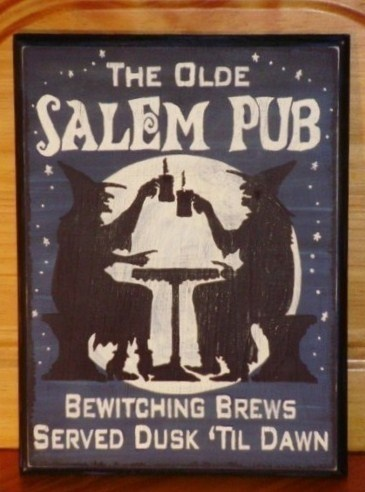 Primitive Witch Sign Olde Salem Pub Plaque Witches Bar Pub Tavern Decor Kitchen