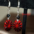 Red Medallion Earrings 13002