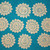 10 Cream Raised Flower Doilies #D-0027