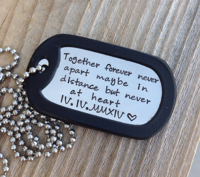 Military Love Quotes Impressive Custom Dog Tag Hand Stamped Love Quote Gift By Cmkreations On Zibbet