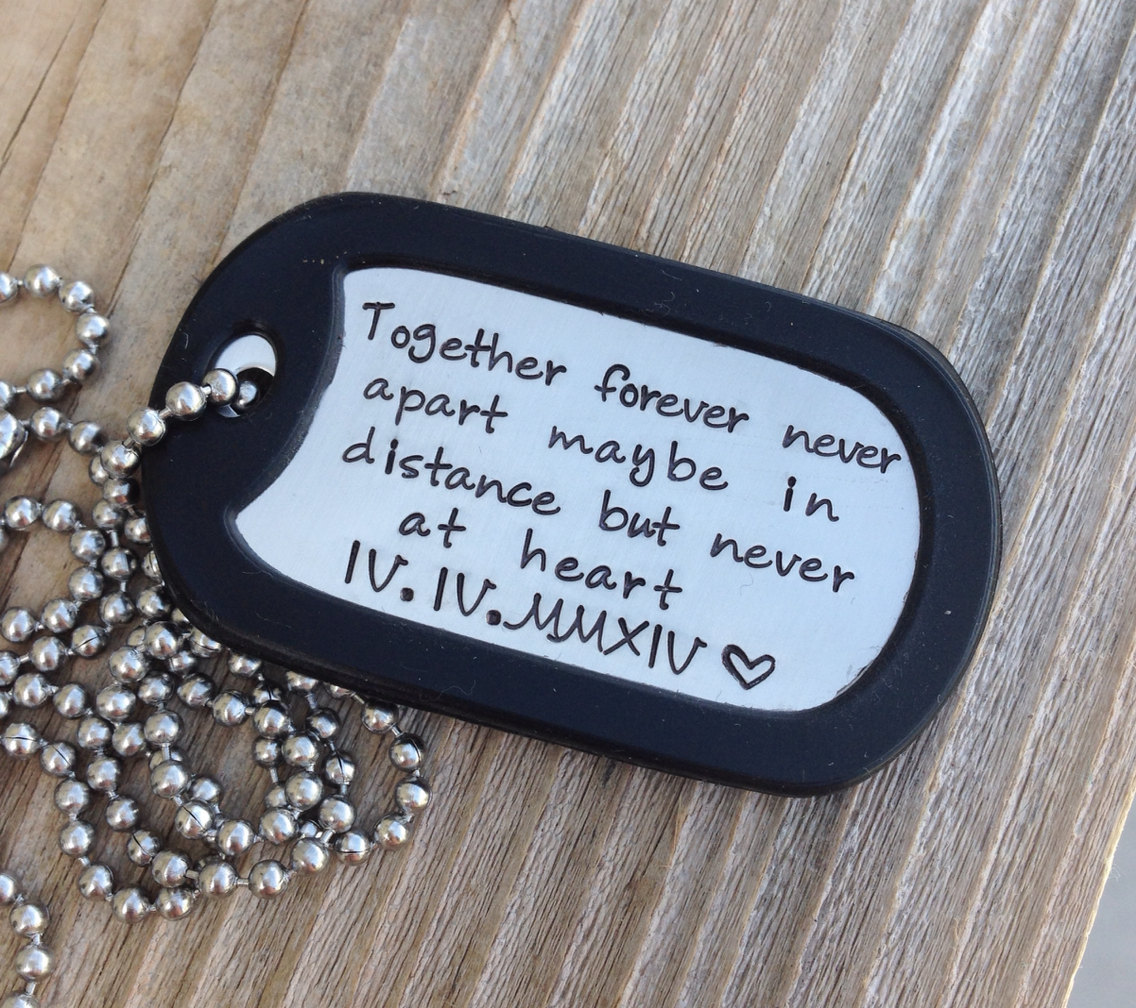 Custom Dog Tag Hand Stamped Love Quote Gift By Cmkreations