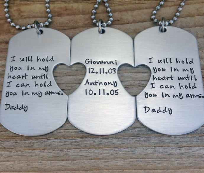 hand stamped dog tags set of three custom cmkreations