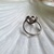 Perfect Promise Ring ! Sterling Silver Vintage Marcasite ring with Three