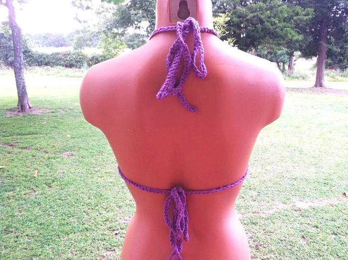 Crochet High V Neck Top by Vikni Designs