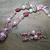 Pink Champagne ~ Matching Set ~ Sarah & Magia Good ~ Silver Steampunk Links ~