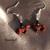 Red Dachshund Dog Earrings 13031