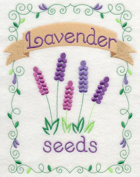 Embroidery Quilt block,Country charm seed packet- lavender,quilting block