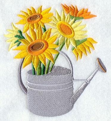 Embroidery Quilt block,fashion flower watering can 1,quilting block