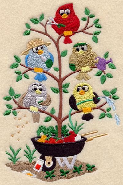 Embroidery Quilt block,gardening tweet,quilting block