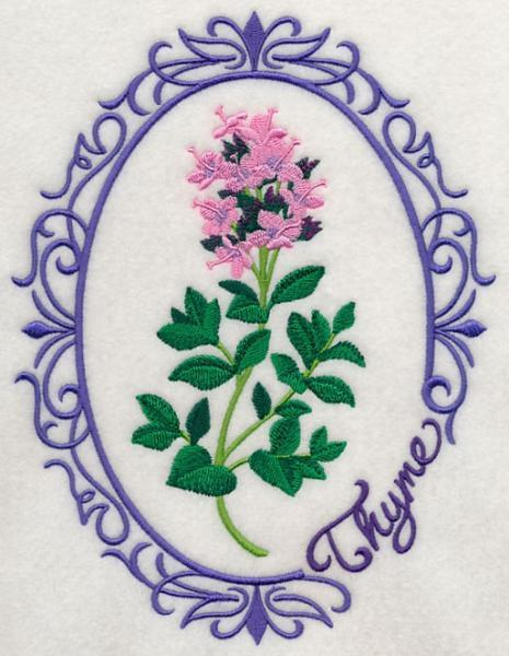 Embroidery Quilt block,Herb cameo-Thyme,quilting block,