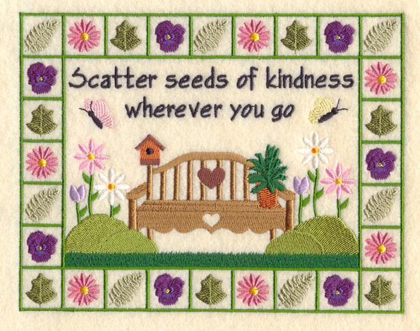 Embroidery Quilt block,Seeds of Kindness,quilting block