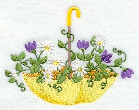Embroidery Quilt block, showers of  flower,quilting block,