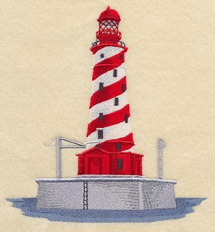 Embroidery Quilt block,white shoal light,quilting block,