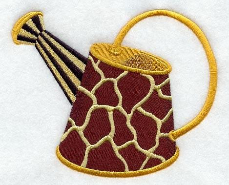 Embroidery Quiltblock, Wild  watering can,quilting block