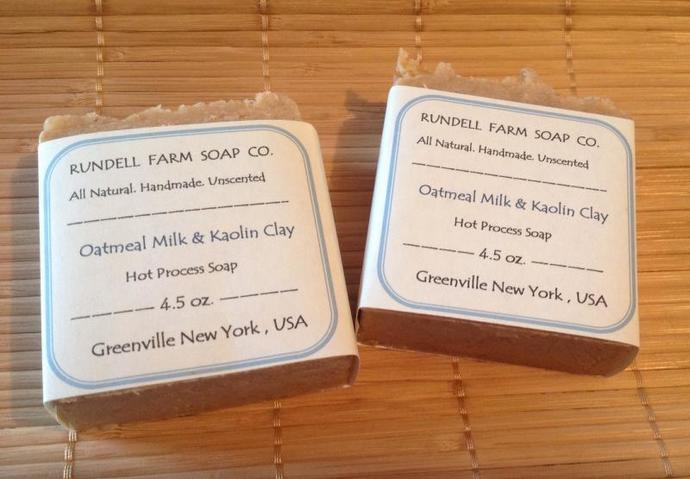 OATMEAL MILK & KAOLIN CLAY goat milk soap- all natural handmade hot process soap