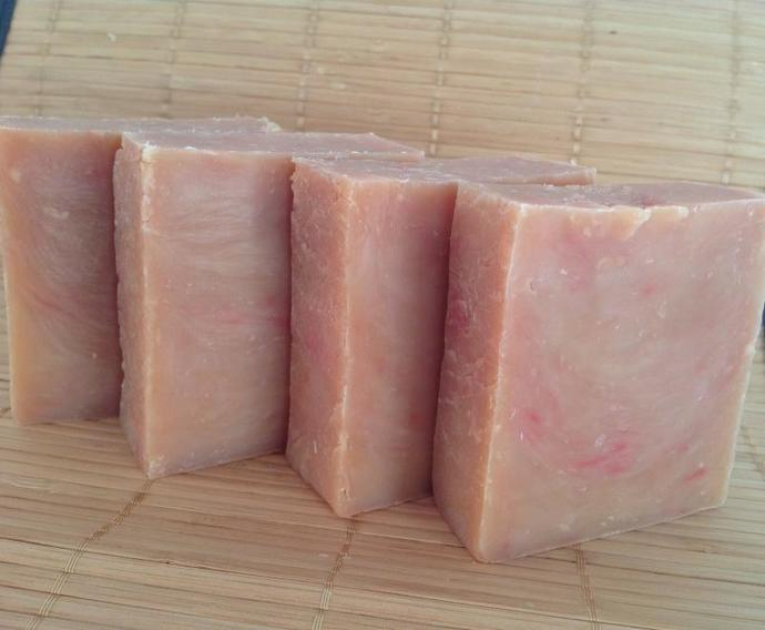 RED CURRANT GOAT MILK SOAP- hot process
