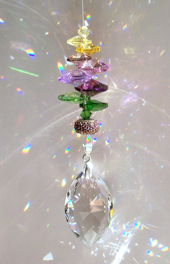 Spring Purple Flower Sun Catcher