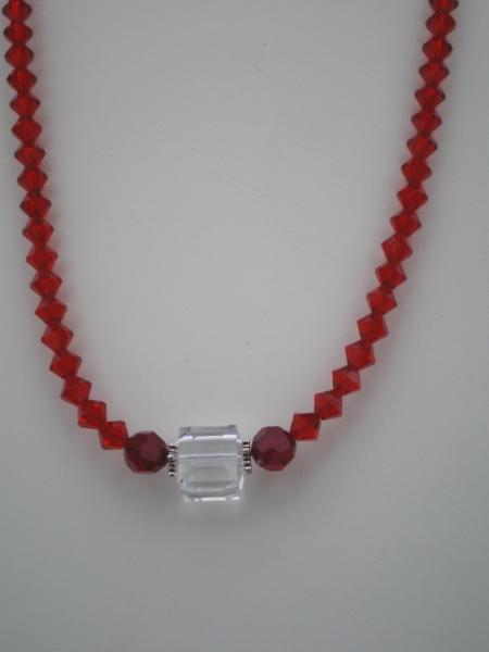 swarovski crystal cube necklace
