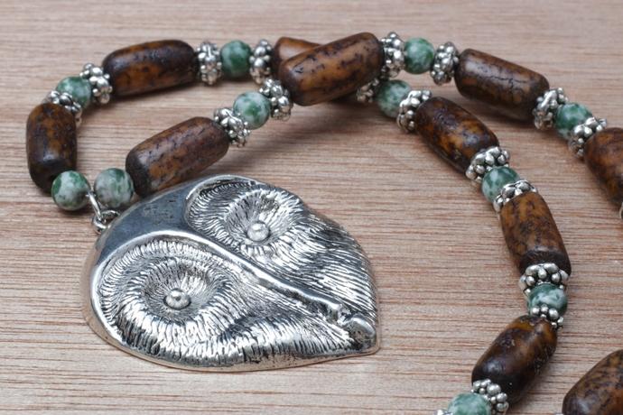 Athena's Wisdom owl necklace OOAK