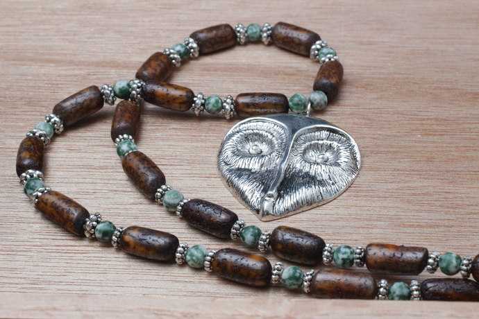 Athena's Wisdom owl necklace OOAK
