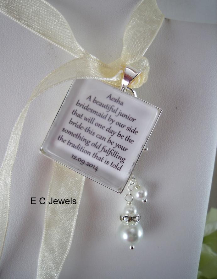 Jr Bridesmaid Keepsake Bouquet Charm