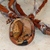 Picture Jasper Polymer Clay Pendant Necklace