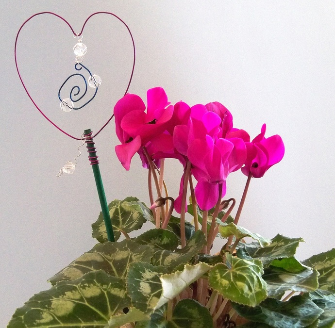Love Your Plant Stakes Purple and Blue Decoration