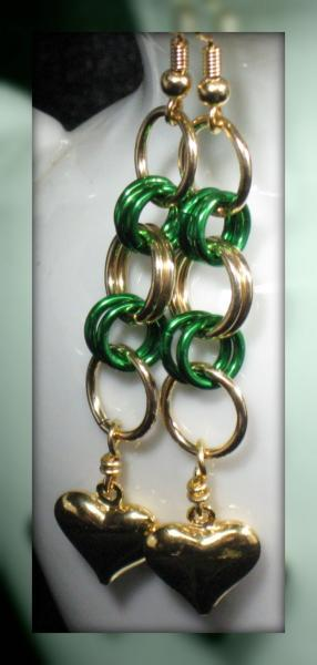 Erin's Heart Chainmaille Earrings