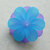 Large Lucite Flower Beads, Jumbo Blooms, Matte Pink, 4