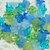 Lucite Flower Beads, Small Daisy, Blue Green Mix, 36