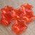 Lucite Flower Beads, Translucent Red Amaryllis, 10