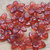 Hand Dyed Lucite Flower Beads, Flat Daisy, Translucent Dark Red, 12