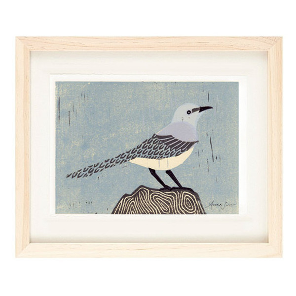MOCKINGBIRD Reproduction 5 x 7 Linocut Art Print