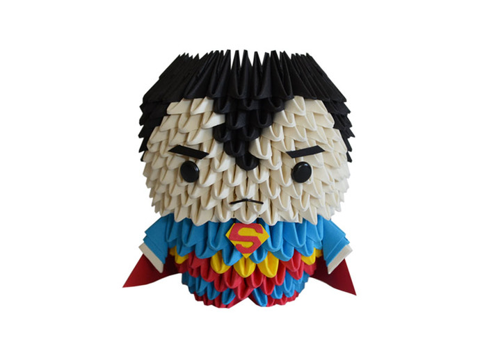 3d Origami Superman By Espressions On Zibbet