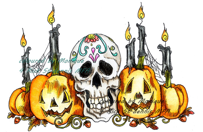 Halloween Cheer digital stamp