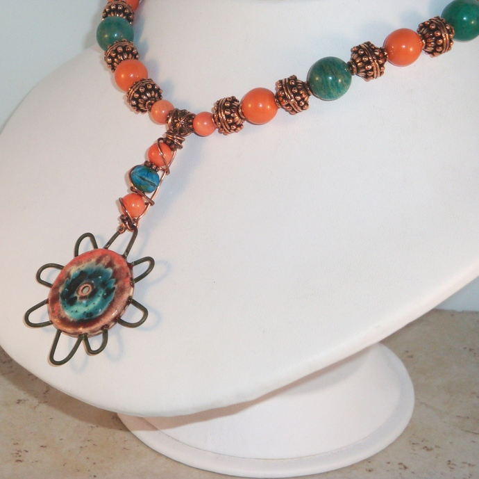 Jangles Pinwheel Pendant Necklace