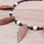 Shell and pearl collar necklace with dangle earrings - OOAK
