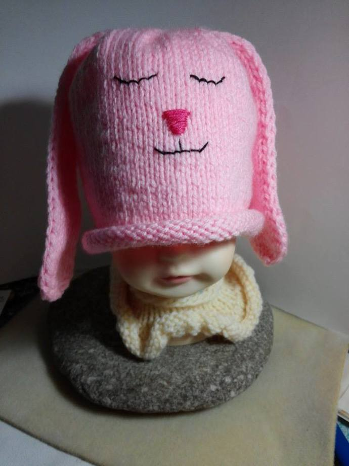 My Little Pink Bunny Beanie
