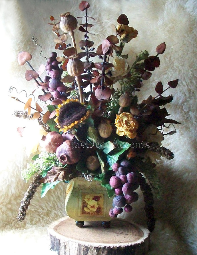 Coming Soon Silk Floral Arrangement MADE TO ORDER Rustic Tuscany~Fall or French