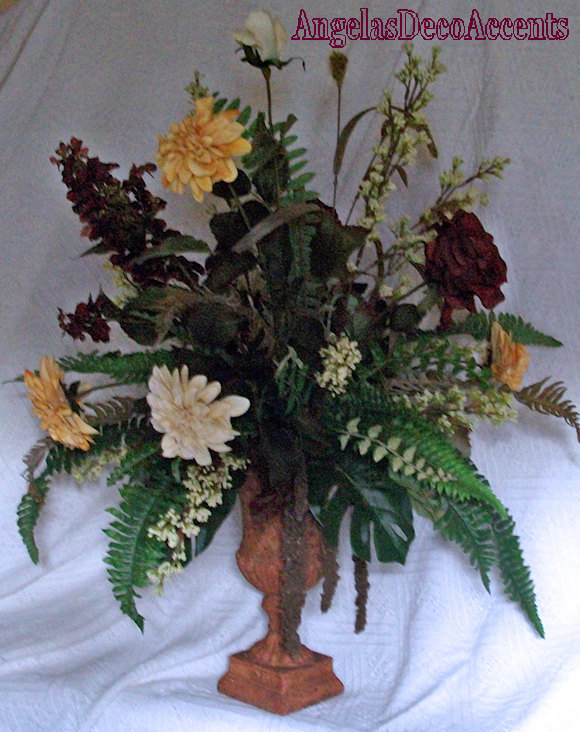 Old World Tuscany 34 x 32 x 26 Floral Arrangement Local + BUS ~Rustic Tuscan