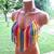Fringe Rainbow Crochet Top by Vikni Designs