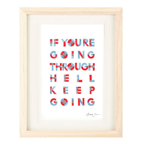 Inspirational and Motivational Handwritten Typography Giclee Art Poster Print -