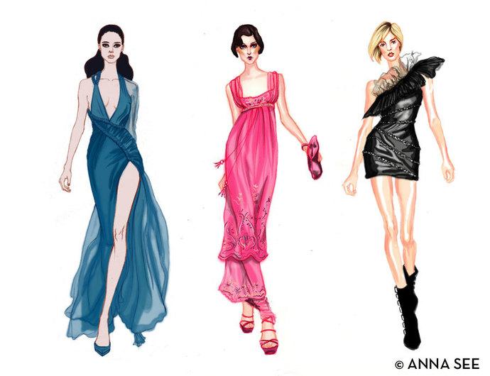 Runway Divas Fashion Illustration Print 8.5 x 11