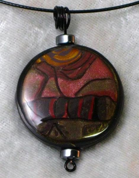 Tree and Mountain Landscape Pendant