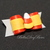 "5/8"" Candy Corn Halloween Dog Bow"