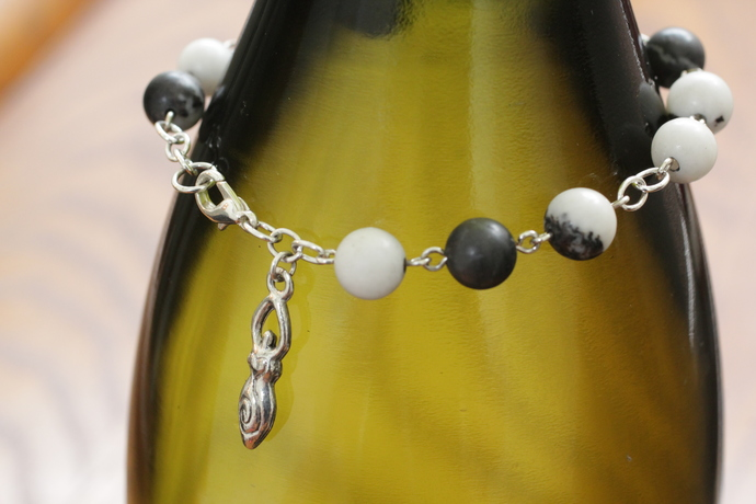 Dalmation stone Goddess bracelet maiden