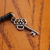 Cell phone charm with antiqued silver key