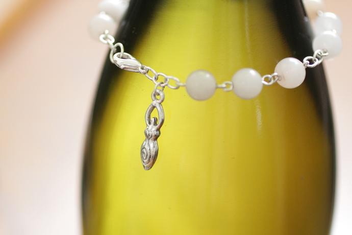 Pink aventurine Goddess bracelet maiden